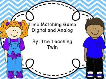 Analog and Digital Time Matching Game