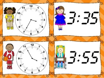 Analog and Digital Time Matching Game