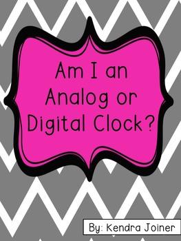 Analog or Digital Clock Pack 1.MD.B.3