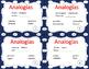 Analogias - Analogies Task Cards - Spanish