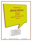 Analogias: Estaciones 1, 2, 3  y  4