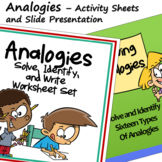 Analogies Activity Sheets and Slide Presentation