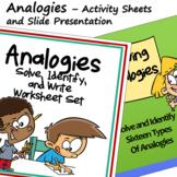 Analogies Activity Sheets and Slide Presentation