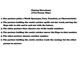 3rd Grade Analogies Vocabulary Practice