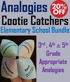 Completing Analogies Activities Bundle: 3rd - 5th Grade Vocabulary Practice