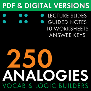 Analogies, 250+ Analogy Questions to Build Vocabulary & Logic Skills CCSS