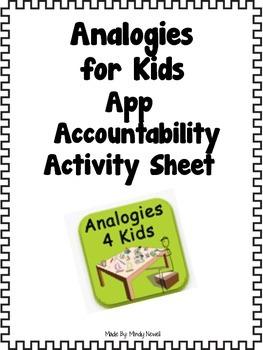 Analogies 4 Kids App Accountability Sheets