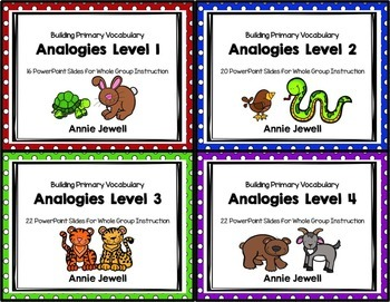 Analogies BUNDLE Slide Shows Printables and Task Cards