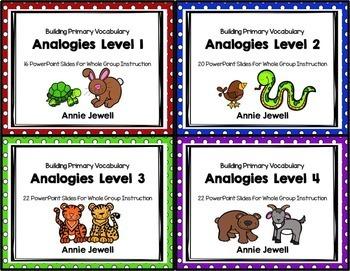 Analogies BUNDLE Slide Shows Printables and Task Cards
