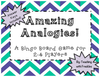 Analogies Bingo: Analogy Game for 2-4 Players