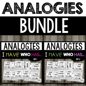 Word Analogies   Bundle