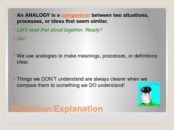 Analogies: Clarification by Comparison