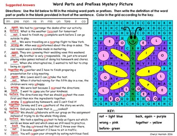 Task Cards Analogies, Context Clues, Connotations, Word Parts  & Mystery Picture