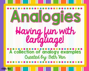 Analogies! Poster Examples and Small Center
