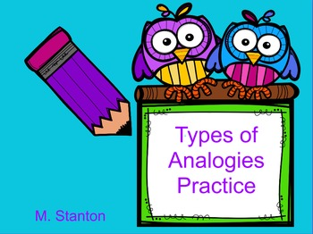Seven Different Types of Analogies Flip Chart for Promethe