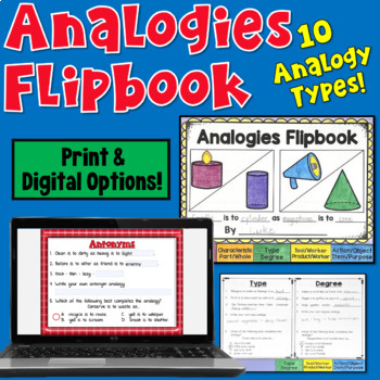 Analogies Flipbook (including 10 types of analogies!)
