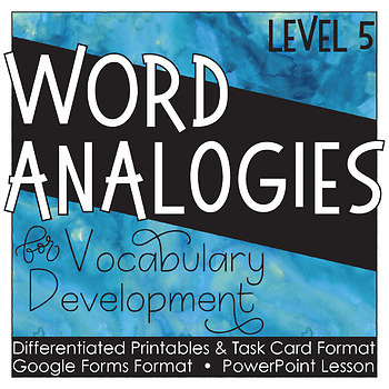 Analogies Grade 5 Distance Learning