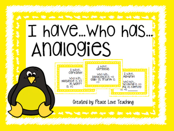 Analogies - I Have, Who Has