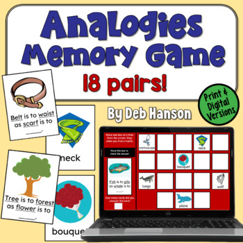 Analogies Memory Game