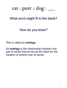 Analogies Notes and Practice