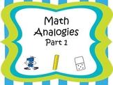Analogies Part 1 CCSS