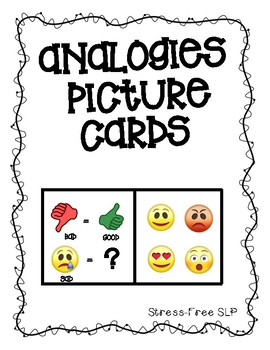 Analogies Picture Cards