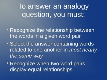 Analogies Power Point