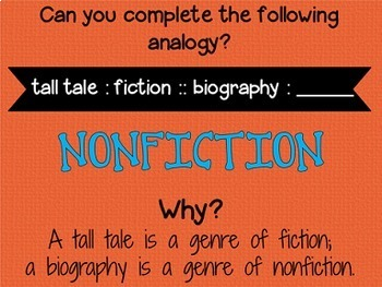 Analogies PowerPoint (46 slides, fully interactive)