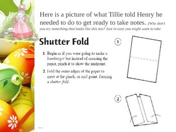 Analogies PowerPoint along with Word Template Shutterfold Foldable