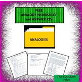 ANALOGY WORKSHEET AND ANSWER KEY