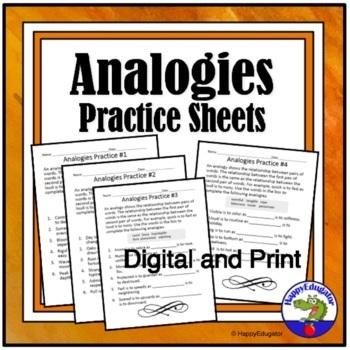Analogies Practice Sheets - Understanding Analogies