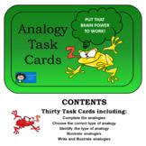 Analogies - Task Cards