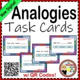Analogies Task Cards w/ QR Codes