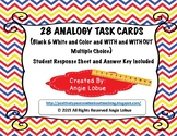 Analogy Task Cards -Black & White and Color & WITH and WITHOUT MULTIPLE CHOICE