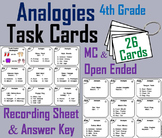 Completing Analogies Task Cards: 4th Grade Vocabulary Practice