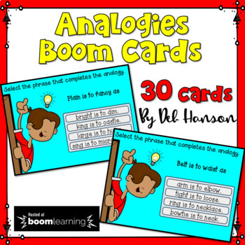 Analogies Task Cards: BOOM Cards