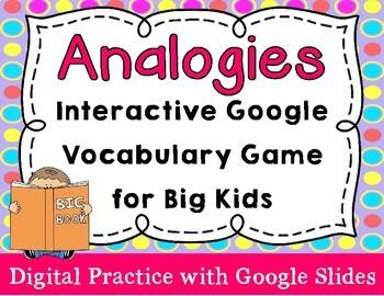 Analogies Vocabulary Practice with Google