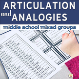Analogies and Articulation for Middle School Mixed Groups