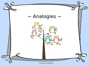 Analogies for Grades 2-4