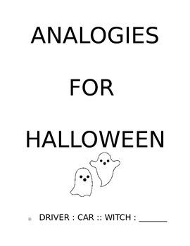 Analogies for Halloween