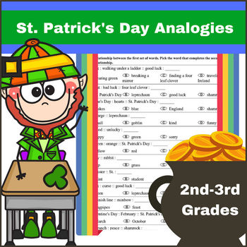 Analogies for St. Patrick's Day for 2nd - 3rd