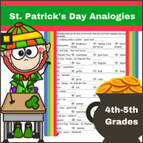 Analogies for St. Patrick's Day for 4th - 5th