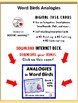 WORD BIRDS ANALOGIES UNIT ... TASK CARDS plus DIGITAL VERSION Gr. 4-5 Vocabulary