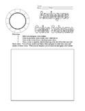 Analogous Color Scheme Worksheet for Art Teachers - Great