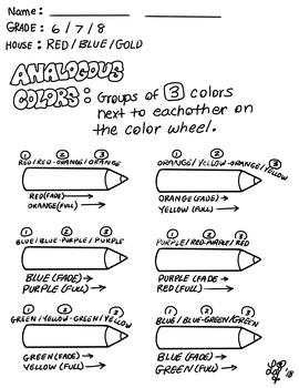 Analogous Colored Pencil Blending Practice