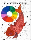 Analogous Colors Tattoo Style Poster