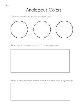 Analogous Colors Worksheet