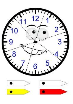 Analogue Clock Face Jigsaw - Printable