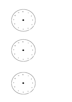 Analogue Clock Faces
