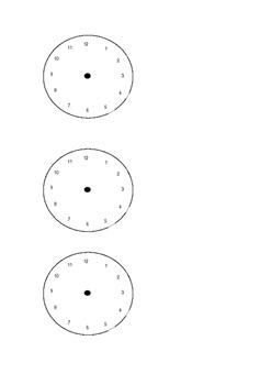 Analogue Clock Faces